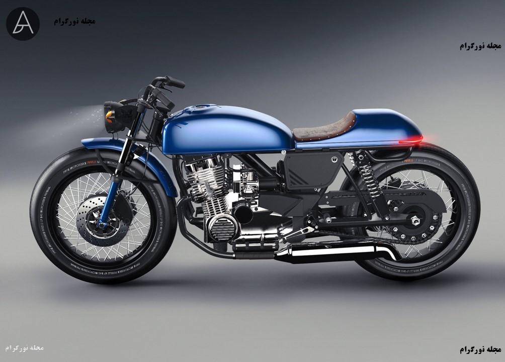 طرح مفهومی موتور سیکلت
