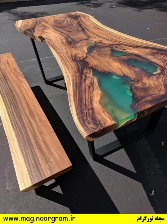 میز اپوکسی و چوب