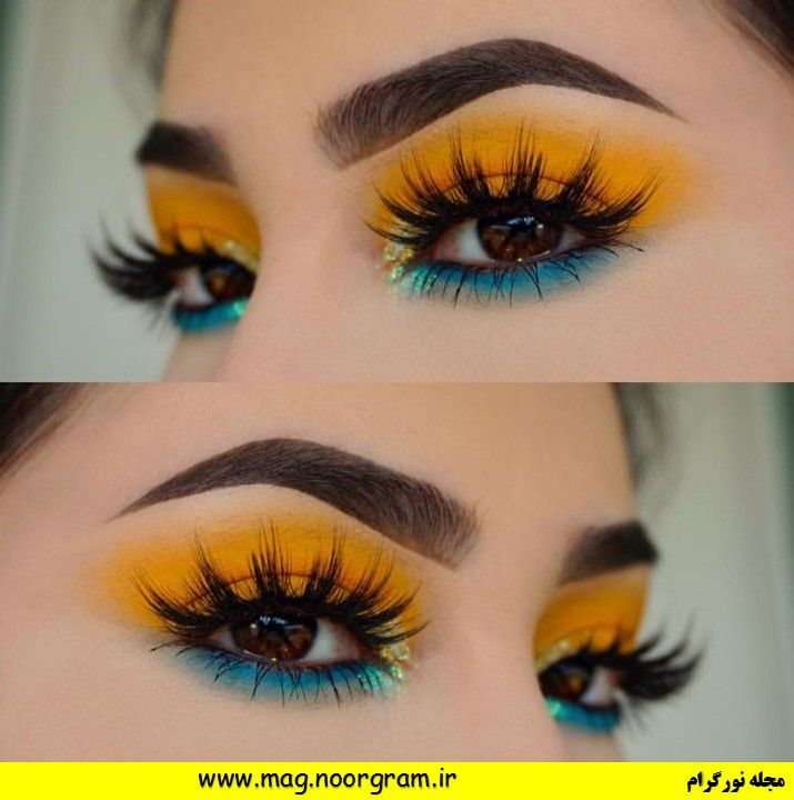 آرایش چشم ابرو نارنجی