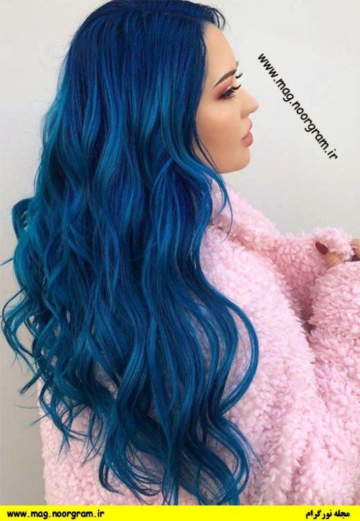 رنگ مو فانتزی آبی