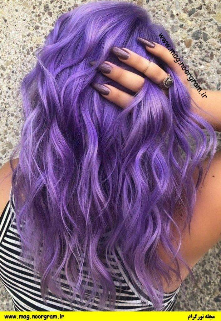 رنگ مو فانتزی بنفش