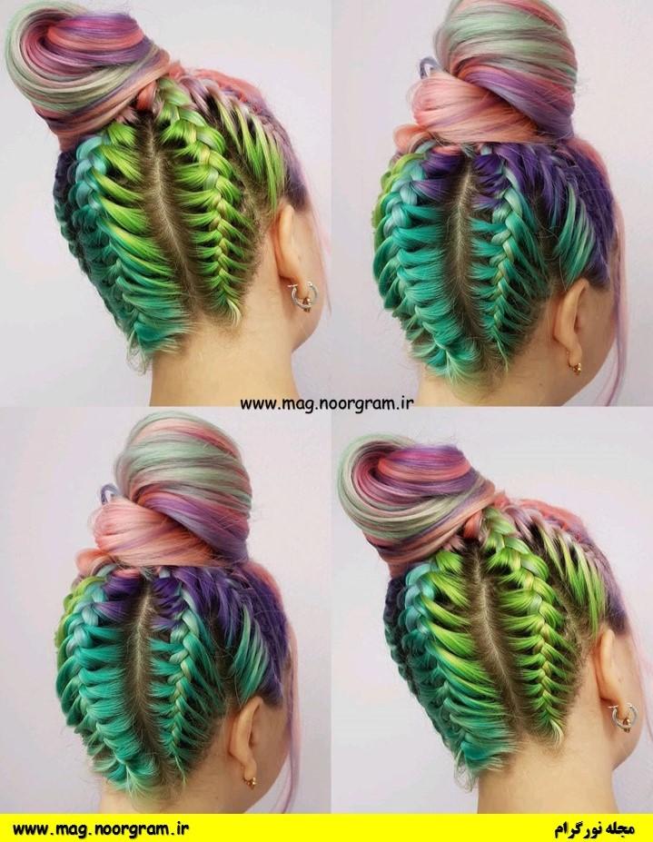 رنگ مو فانتزی چند رنگ