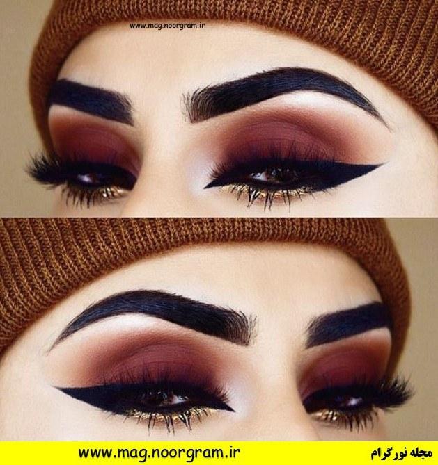 سایه چشم قهوه ای