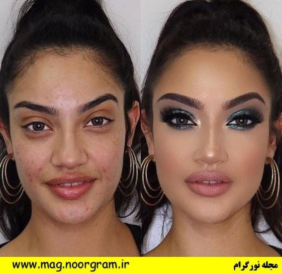 عکس قبل و بعد آرایش