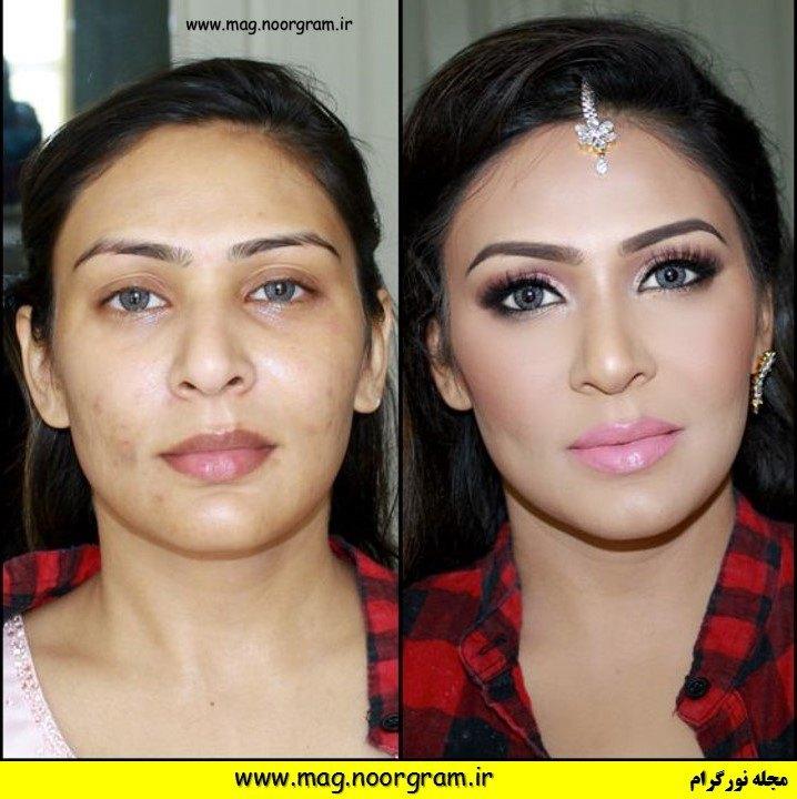 قبل از آرایش و بعد از آرایش