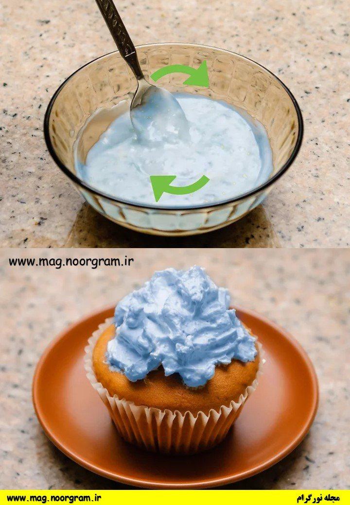 تهیه رنگ غذای آبی