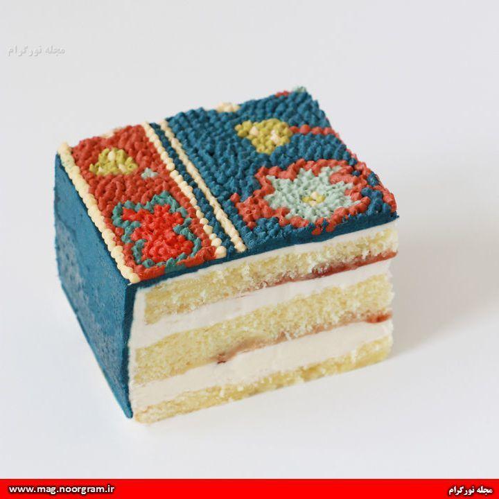طرح فرش - کیک تولد