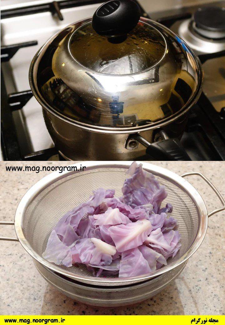 طرز تهیه رنگ غذای آبی در منزل