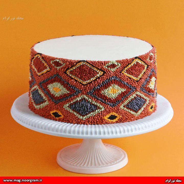 کیک تولد به شکل فرش