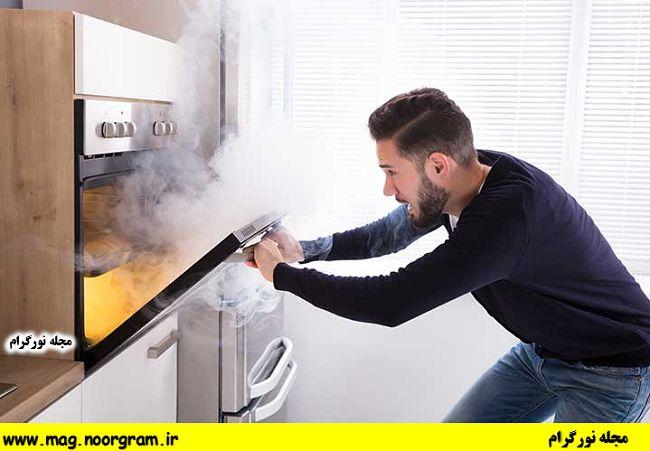 از بین بردن بوی سوختگی در آشپزخانه