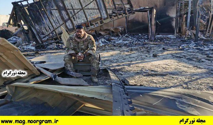 تصویر سرباز امریکایی در خرابی های عین الاسد