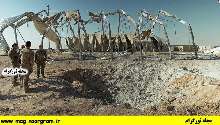 محل اصابت موشک ها در عین الاسد