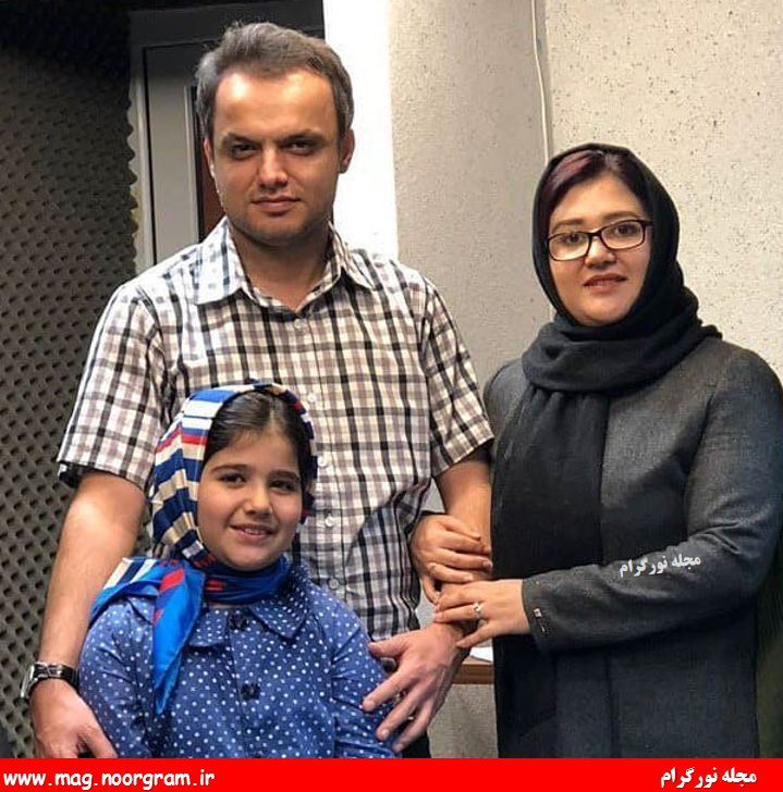 حمید محمدی و همسرش و دخترش