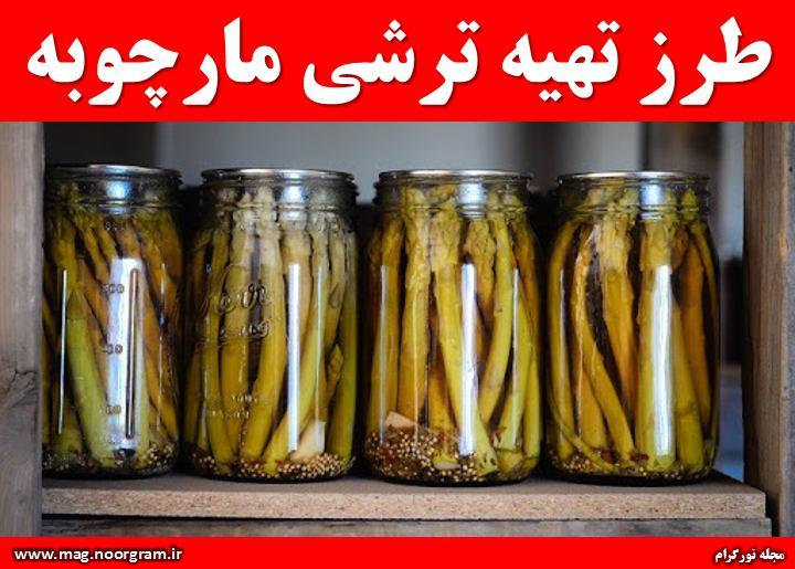 طرز تهیه ترشی مارچوبه