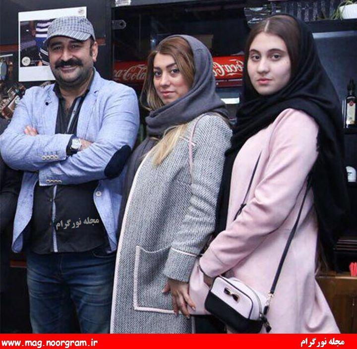 مهران احمدی و هسر و دخترش