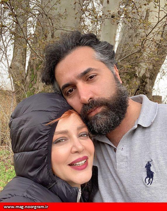 سلفی بهاره رهنما و همسرش
