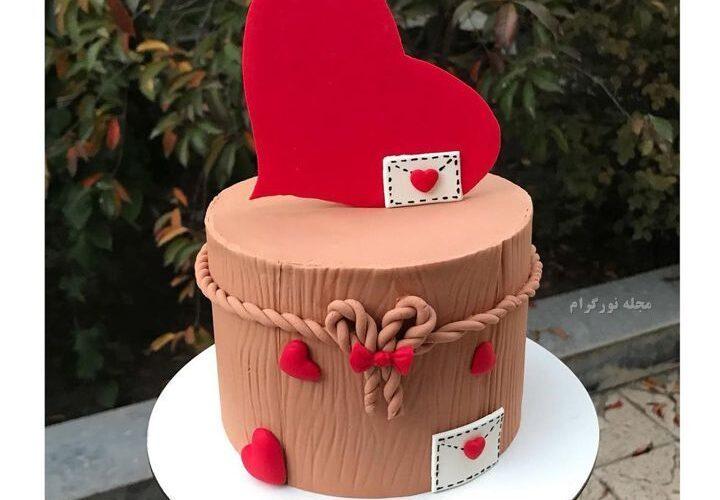 طرح کیک سالگرد ازدواج