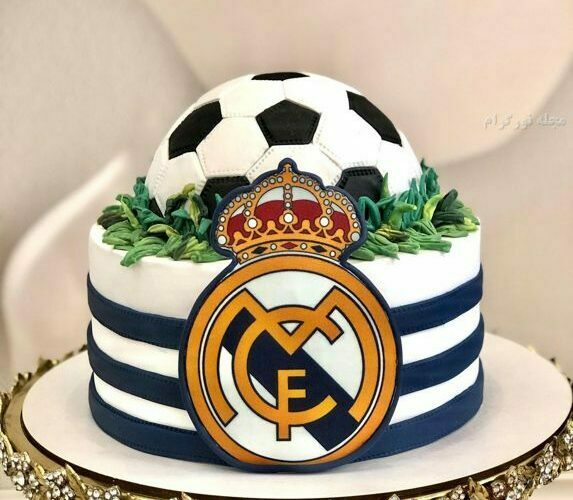 کیک تولد پرچم رئال مادرید