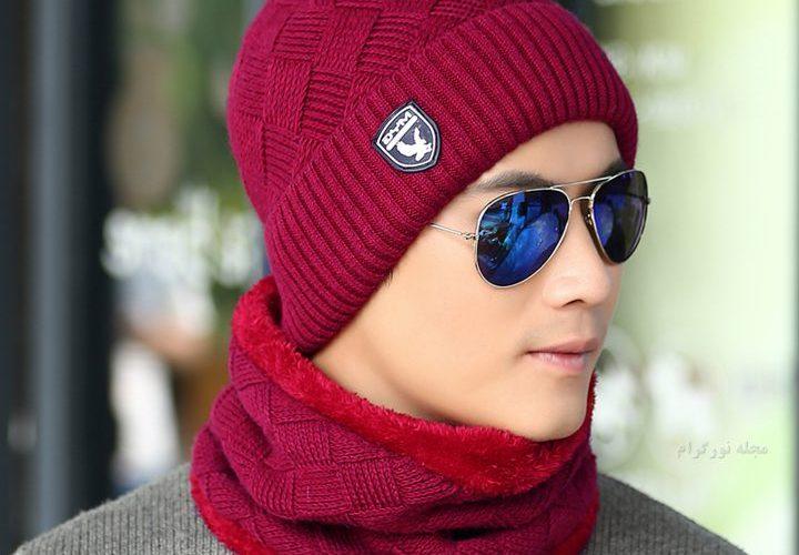 کلاه بافتنی پسرانه قرمز